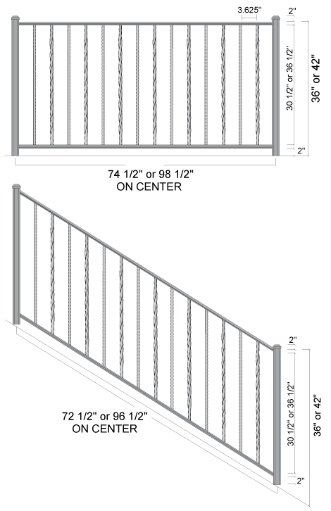 Staircase Painting as well Stair Stringer Specifications likewise Sunken Hot Tub further Deck Railing Using Fence Panels in addition Cable Railing. on outdoor stair railing height