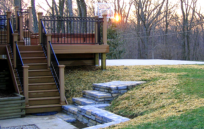 Deck Spa Steps